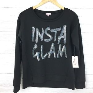 NEW Juicy Couture Black Insta Glam Silver Sequin